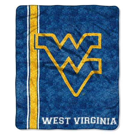 West Virginia Mountaineers NCAA Sherpa Throw (Jersey Series) (50in x 60in)