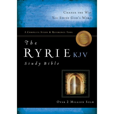 The Ryrie KJV Study Bible Hardcover Red Letter