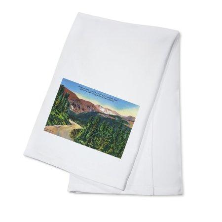 Colorado - Chicago Creek Road View of Mount Evans, near Idaho Springs and Echo Lake (100% Cotton Kitchen