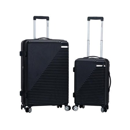 Star Trail ABS Luggage Set, Black - 2 Piece