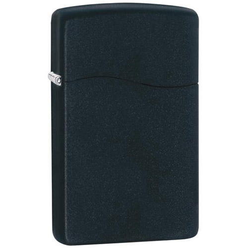 Zippo Butane Fueled Lighter, Black Matte