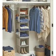 Better Homes & Gardens Charleston Collection 6 Shelf Closet Organizer, Grey