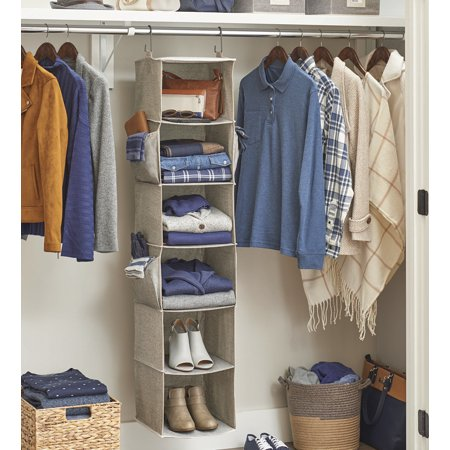 Better Homes & Gardens Charleston Collection 6 Shelf Closet Organizer, Grey ()
