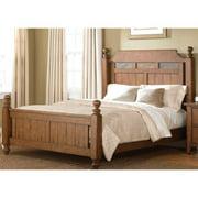 Liberty Heathstone Oak King-size Poster Bed