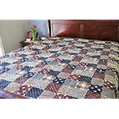 Ashley Cooper Patriotic Flag Quilt in Twin Size
