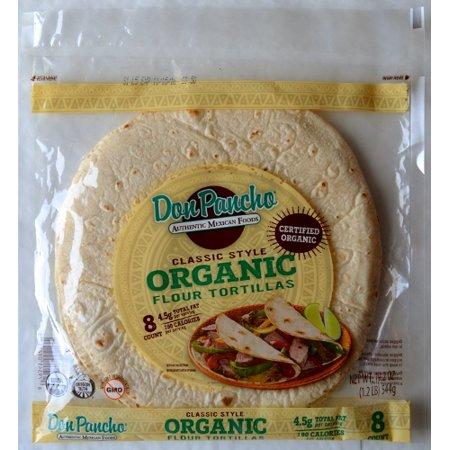 "Don Pancho Organic Classic Flour 10"" White Tortillas, 8 ct"