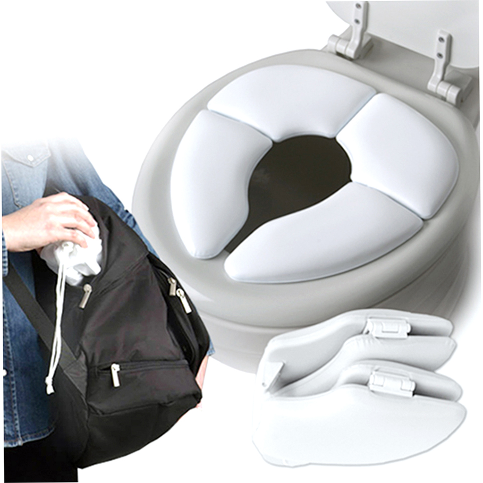 Kids Baby Toddler Travel Folding Padded Potty Seat Cushion Toilet Training