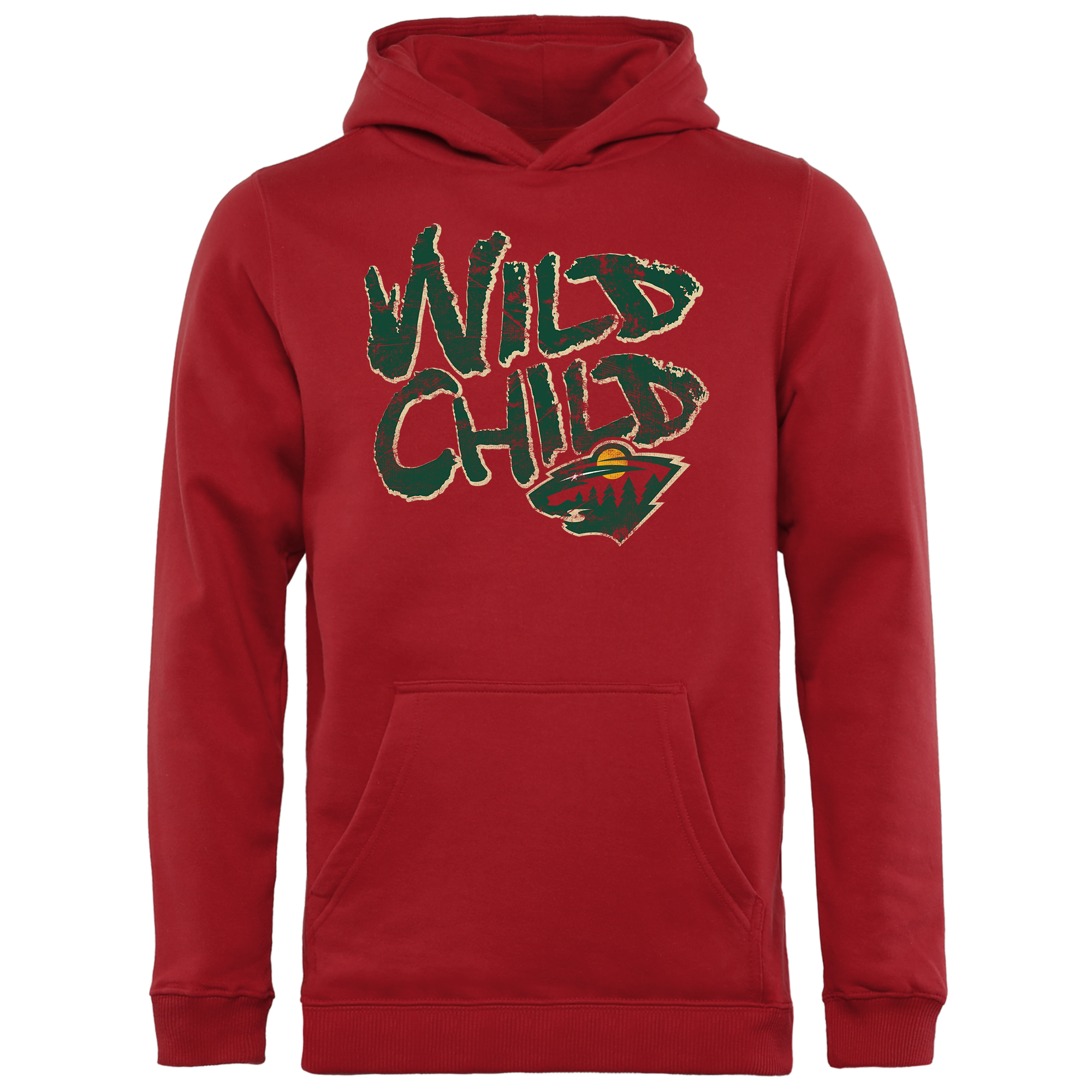 watch a2793 1f922 Minnesota Wild Youth Hometown Collection Wild Child Pullover Hoodie - Red