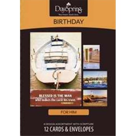 Card-Boxed-Birthday-Nautical (Masculine) (Box Of 12) ()