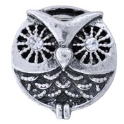 NUGZ Jewelry 73804 Charm-Nugz Snap On-Big Owl, Silver