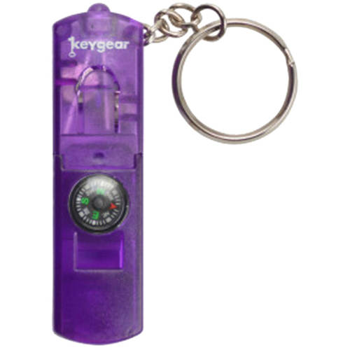 Ultimate Survival Technologies LED Whistle Compass, Purple