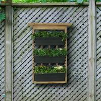Algreen Vertical Planter, Garden View Planter with Trellis, 3 Planters