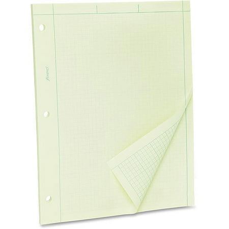 Esselte Green Tint Engineer's Quadrille Pad 2 Side Quadrille Pads