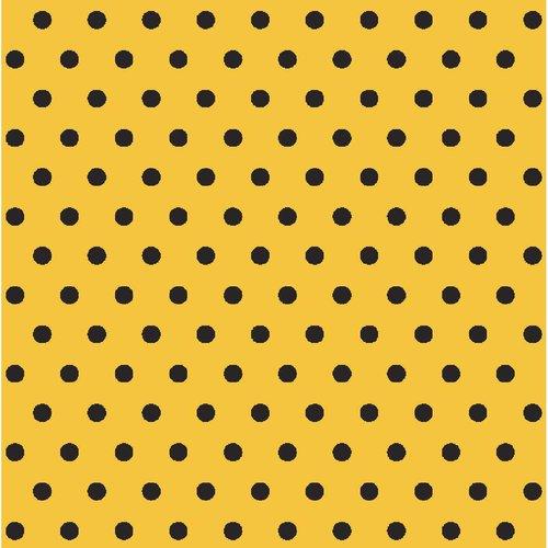 "Springs Creative Iconic Coordinates Cotton 44""/45"" Retro Black & Yellow, per Yard"