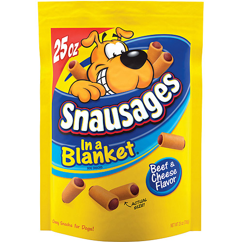 Snausages In a Blanket Beef & Cheese Flavor Dog Snacks, 25-Ounce