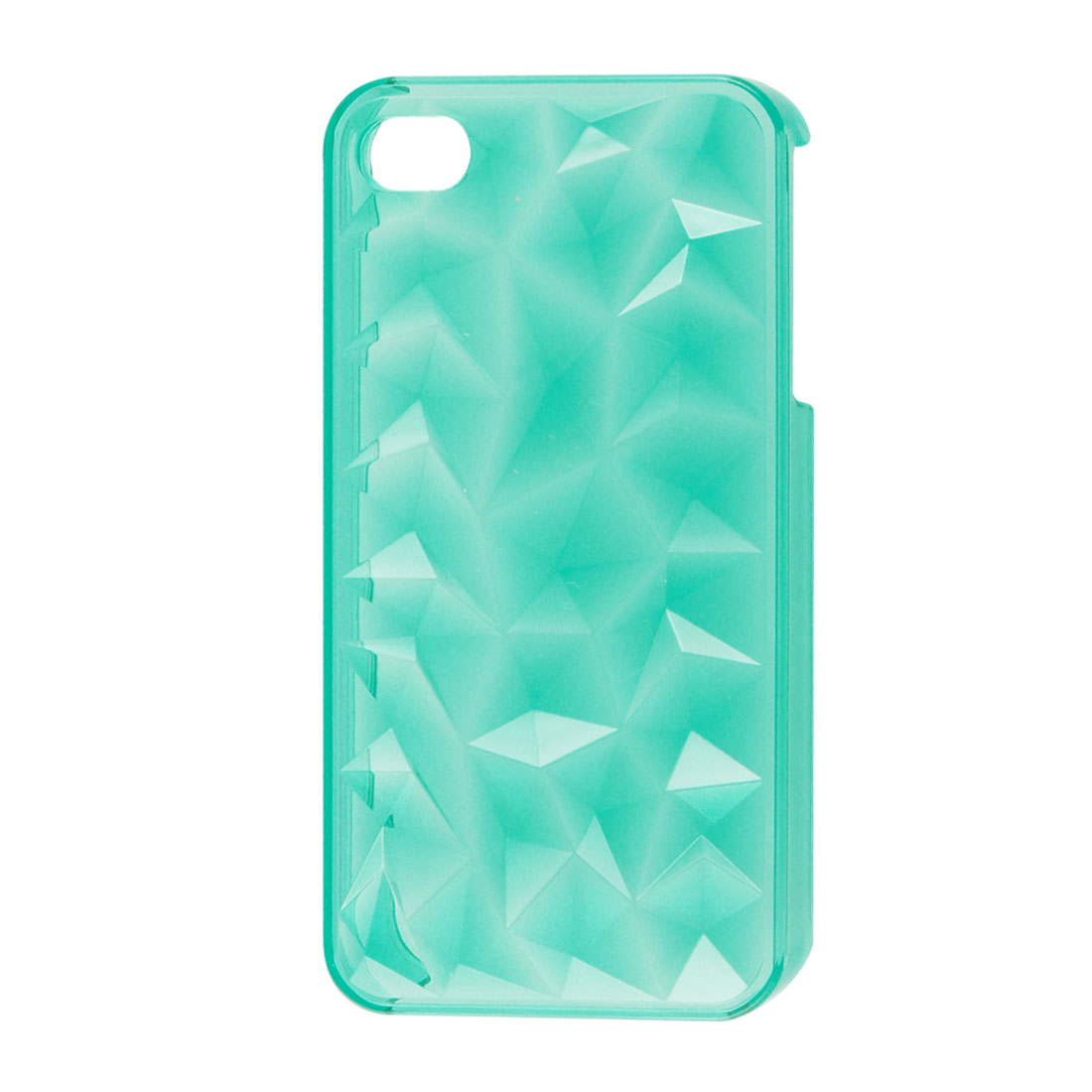 Clear Turquoise Color Background Plastic Back Shell Guard for iPhone 4 4G 4S