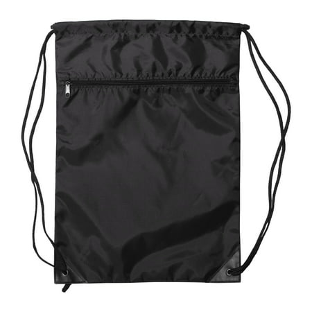 - 8888 Denier Nylon Zippered Drawstring Backpack