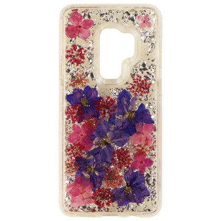 Case-Mate Karat Petals Case for Galaxy S9+ (Plus) - Clear/Silver Flake/Flowers