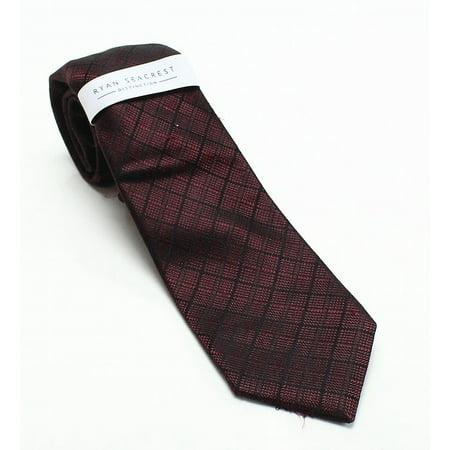 Ryan Seacrest Distinction Salina Grid Plaid Men's Slim Necktie - Grid Microfiber Tie