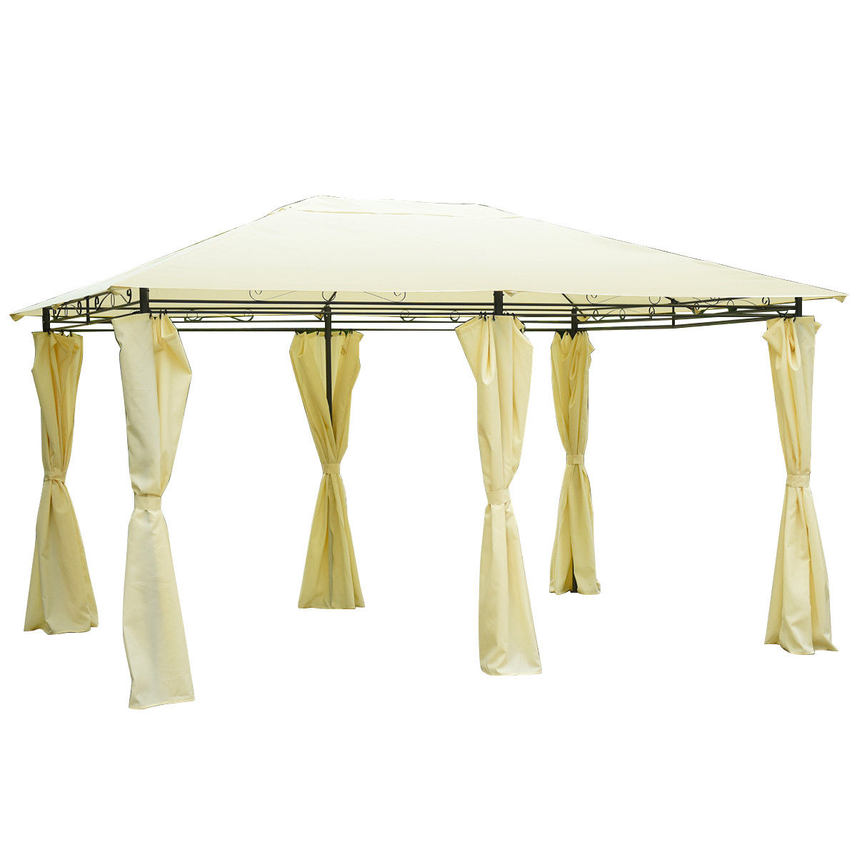 Costway 13'x 10' Gazebo Canopy Shelter Patio Party Tent Outdoor Awning W/Side Walls
