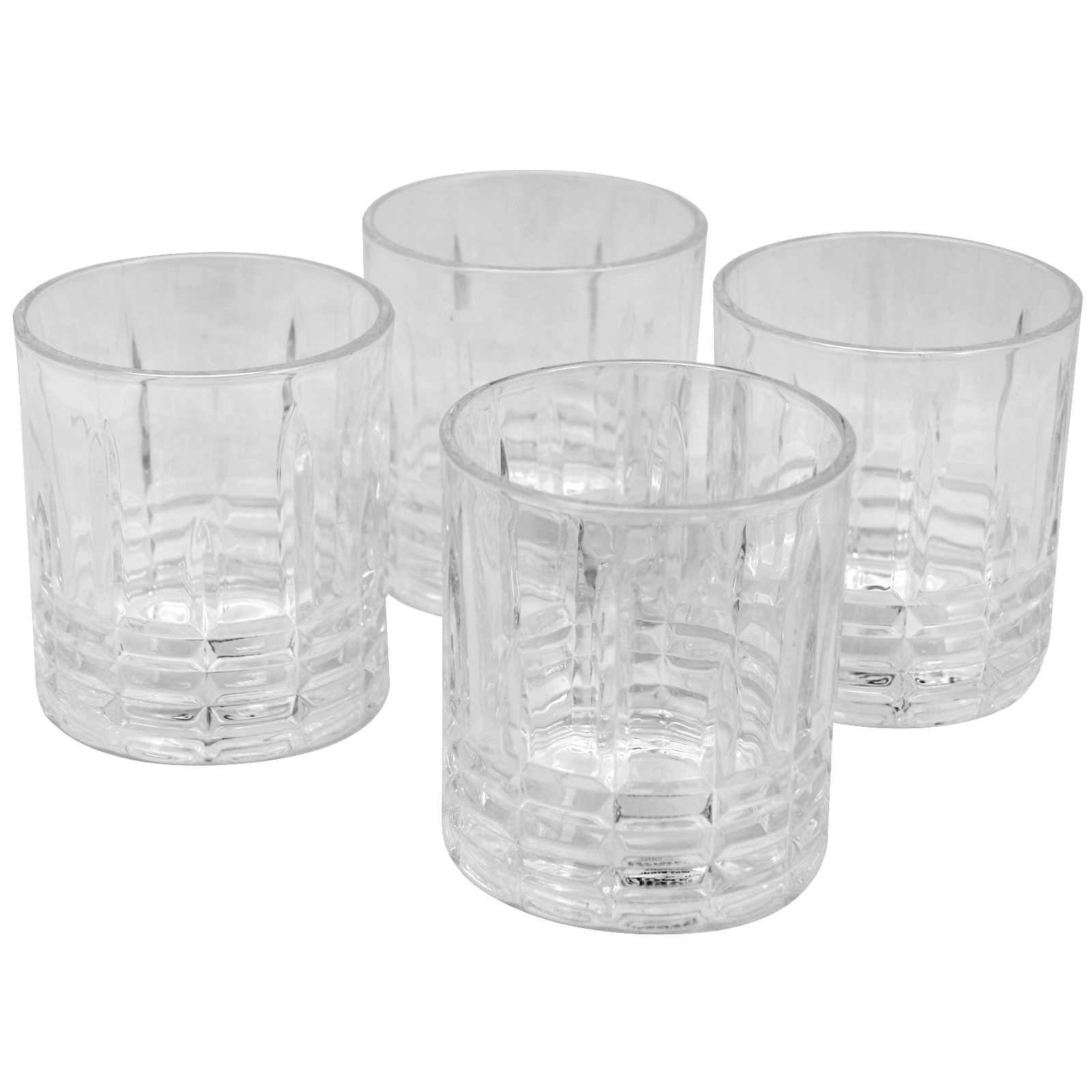 Gibson Home Jewelite 4 Piece 11 oz. Double Old Fashioned Glass Set