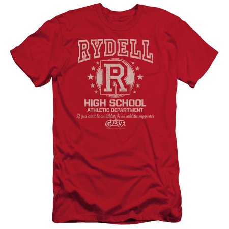 Grease Movie Rydell High Adult Slim T-Shirt Tee - Grease Rydell High