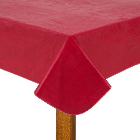 Mainstays Tablecloth Red 70 Quot Round Walmart Com