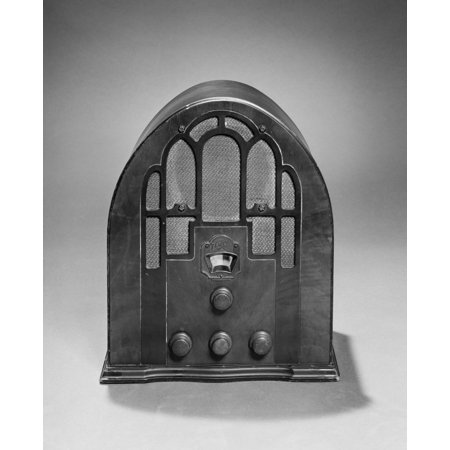 1930s Old Time Zenith Model 805 Cathedral Style Am Radio 1935 Rolled Canvas Art - Vintage Images (Cathedral Style Radio)