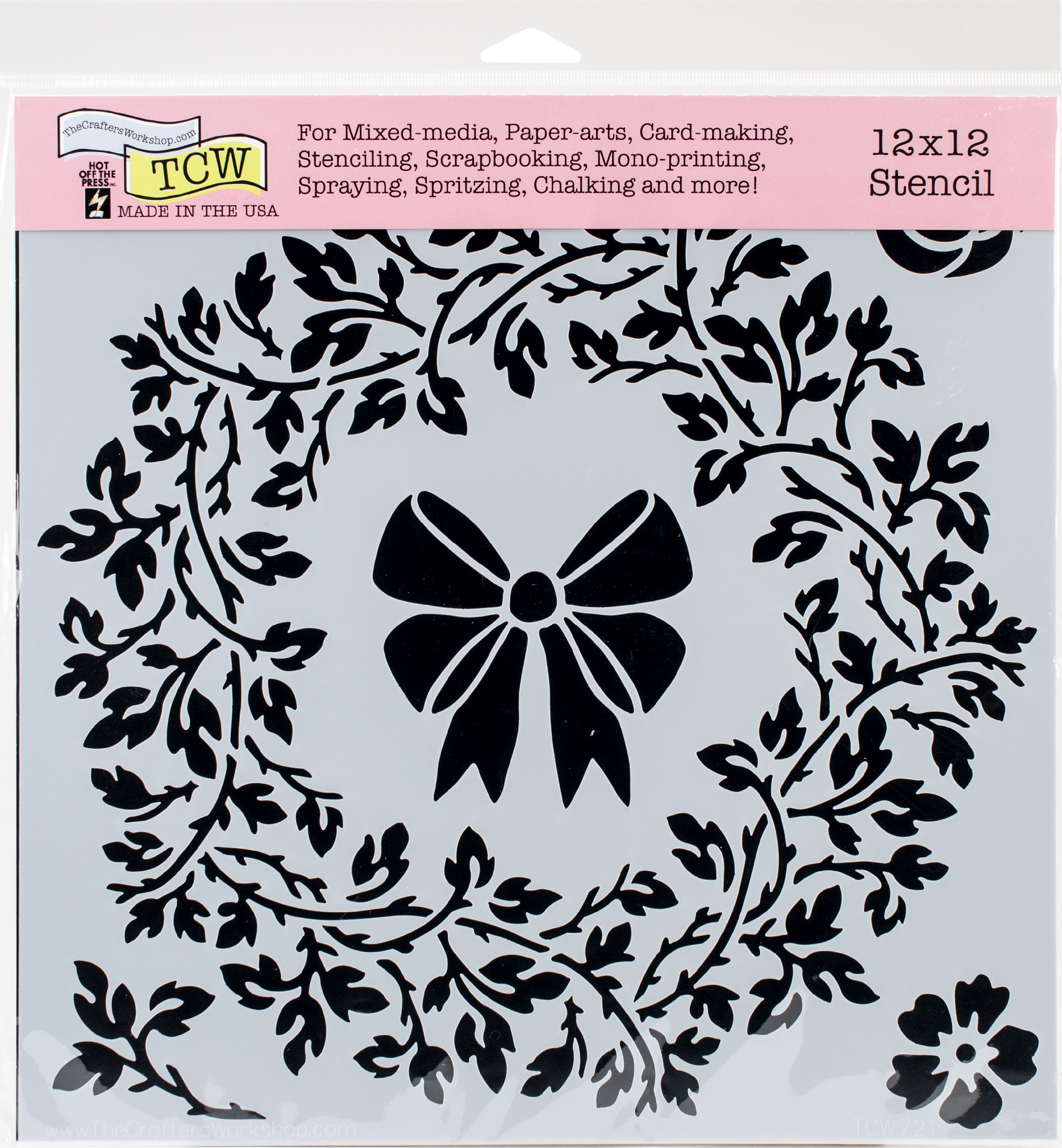 "Crafter's Workshop Template 12""X12""-Big Wreath"