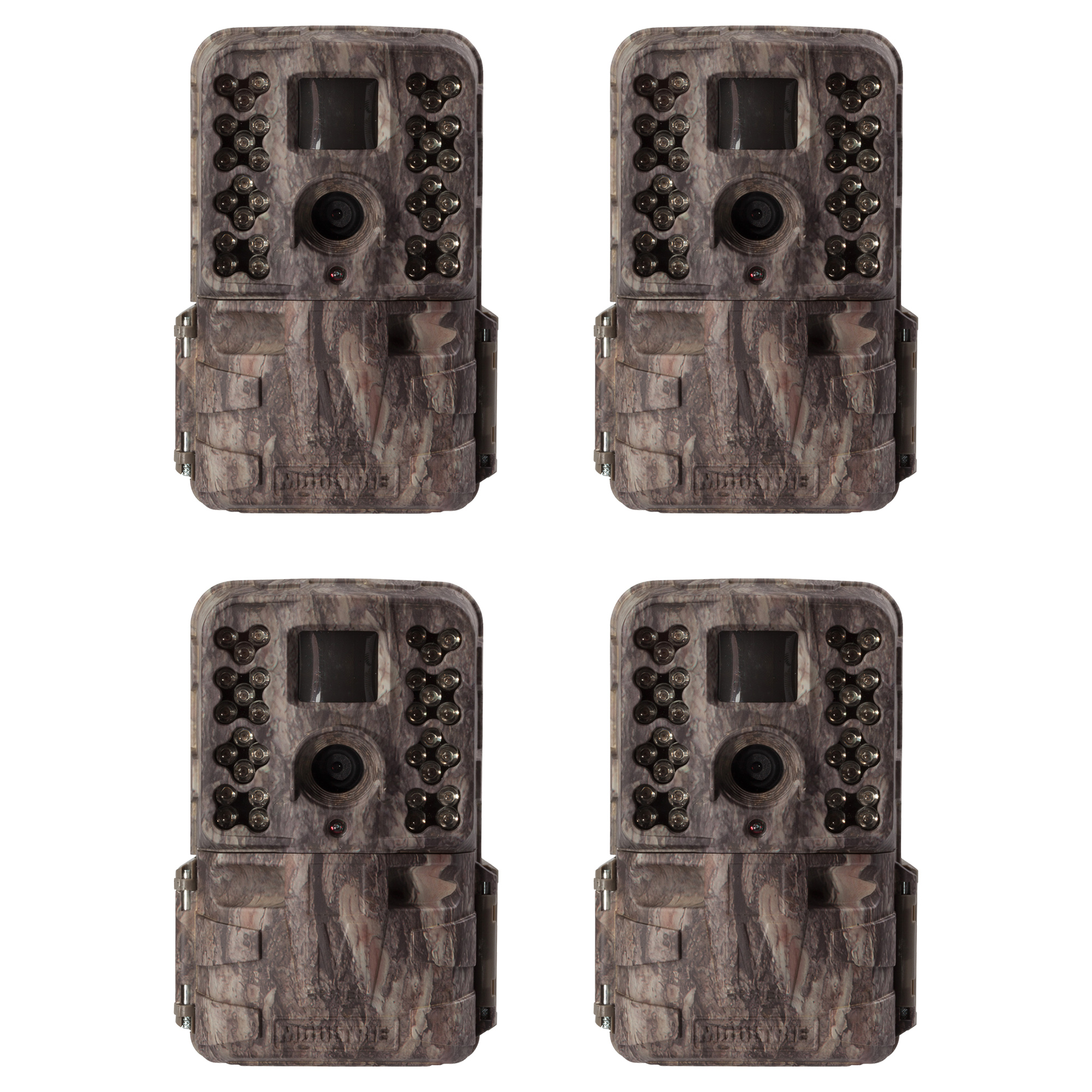 Moultrie M-40i 16MP 80' FHD Video No Glow Game Trail Camera, 4 Pack | MCG-13182