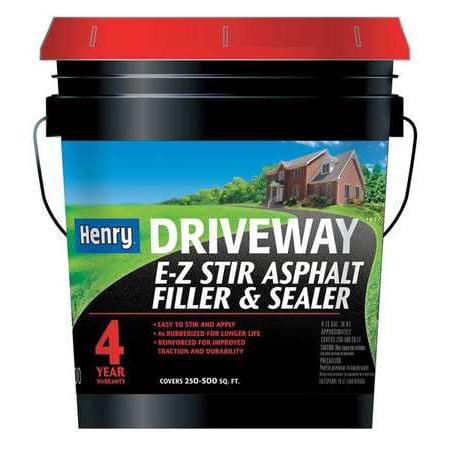 HENRY Sealer,Asphalt,4.75 gal.,Pail HE200GR074