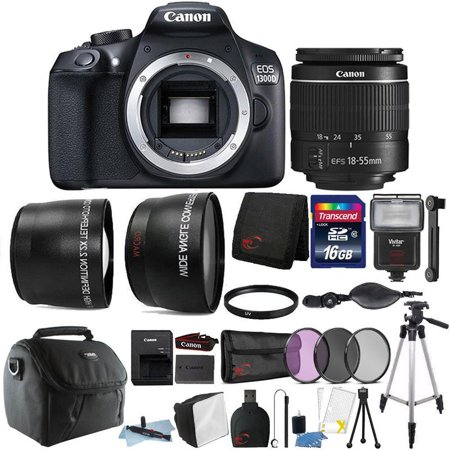 Canon EOS 1300D / T6 18MP Digital SLR Camera 18-55mm Lens and Ultimate Accessory Bundle