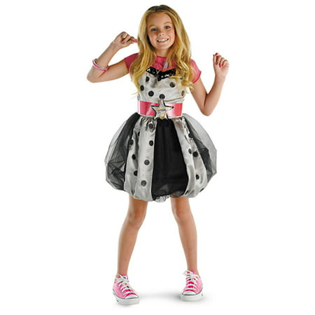 Hannah Montana Pink Polka Dot Dress Deluxe costume Disguise 50451