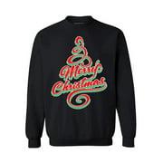 Awkward Styles Merry Christmas Holiday Sweatshirt Christmas Tree Christmas Sweatshirt Funny Christmas Sweater Party Xmas Gifts Christmas Sweatshirt for Men for Women Xmas Tree Holiday Sweater