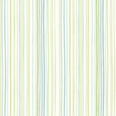 Brewster Stripe Teal Lanata Wallpaper