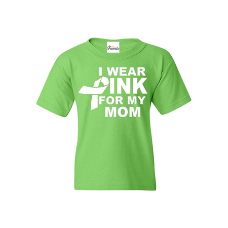 I Wear Pink for my Mom Youth's T-Shirt Breast Cancer Awareness Shirts
