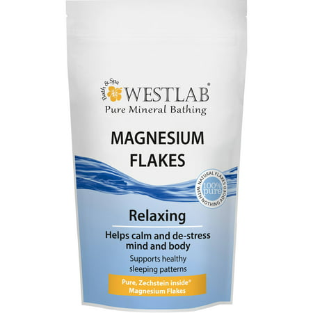 Westlab Magnesium Flakes Zechstein Ultra Premium Quality For Bathing Calming  De Stressing And Healthy Sleep