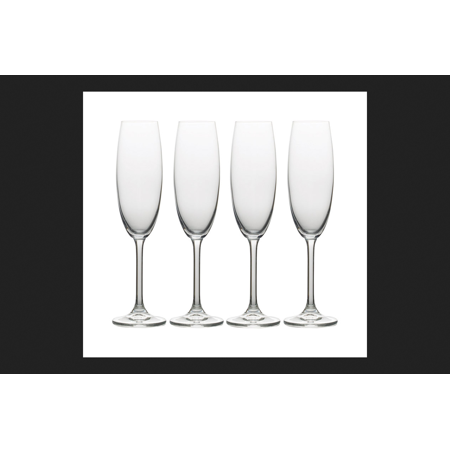 Mikasa Julie Collection 8 oz. Clear Champagne Flutes Crystal ()