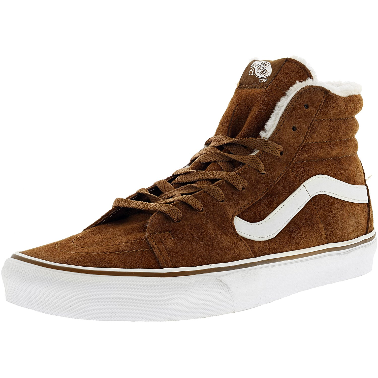 Vans Men's Sk8-Hi Pig Suede And Fleece Monks Robe / Blanc...
