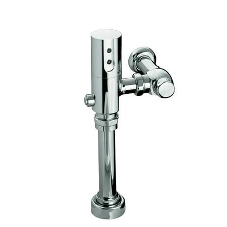 Kohler K 10956 Cp 1 28 Gpf 4 85 Lpf Touchless Dc Toilet Flushometer  Polished Chrome