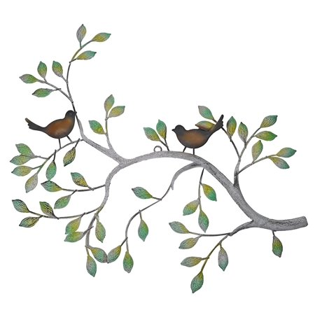 24 in Branches w/ Birds Decorative Metal Wall Sculpture](Metal Bird Wall Decor)