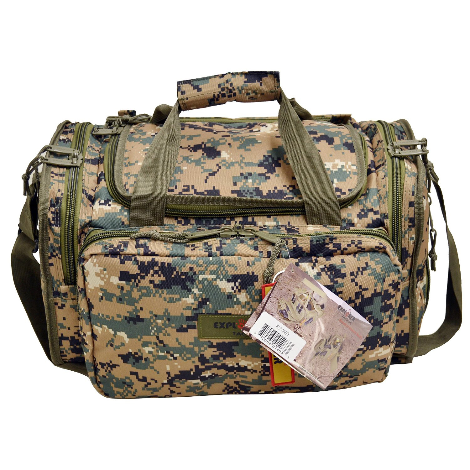 Every Day Carry Tactical Military Range Bag w/ Padded Compartments