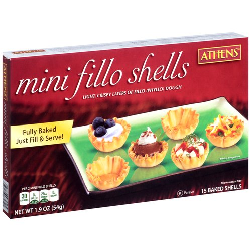 Athens Mini Fillo Shells, 15 count, 1.9 oz