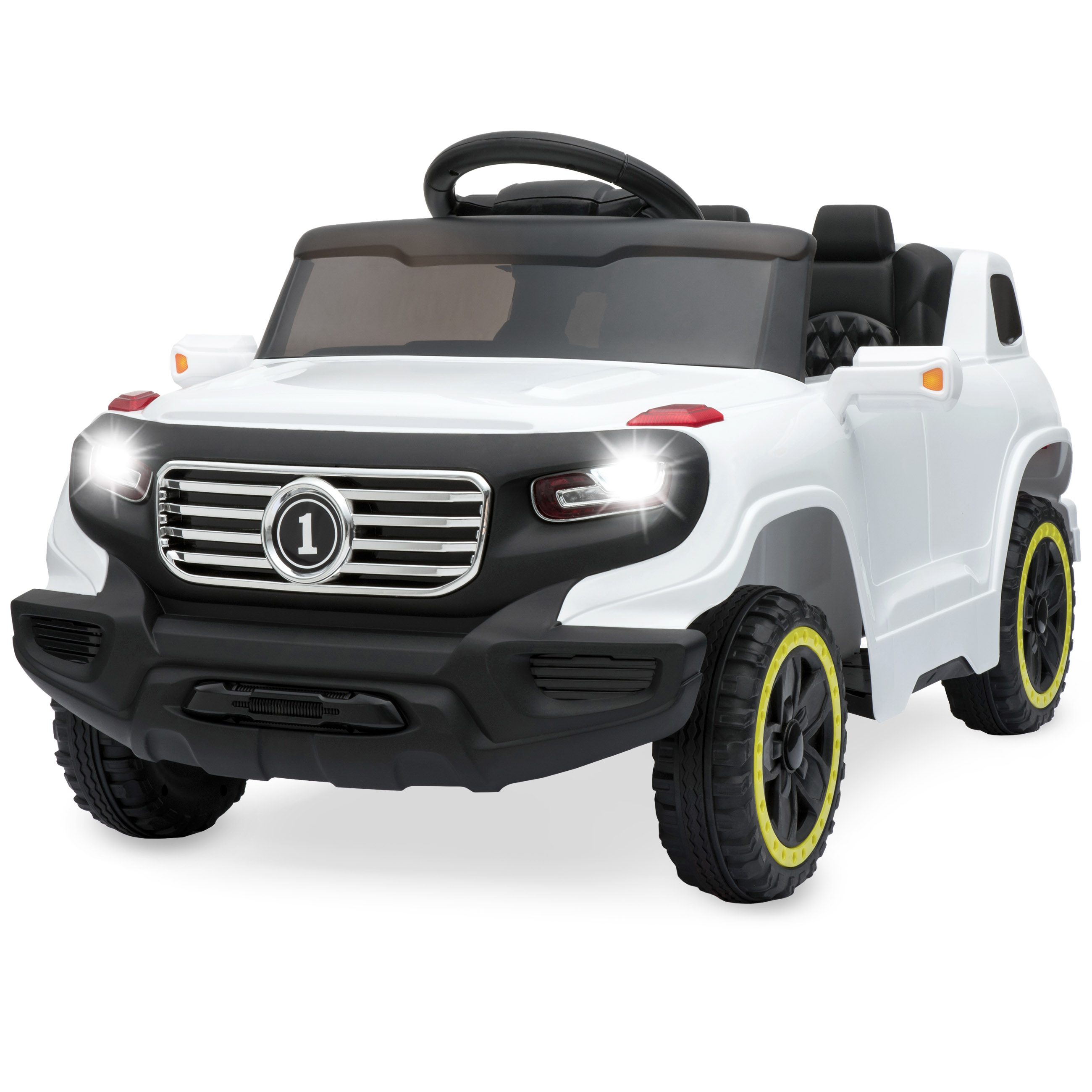 Best Choice Products 6V Kids Ride-On Car Truck w/ Parent Control, 3 Speeds, LED Headlights, MP3 Player, Horn - Pink