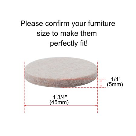 "Furniture Pads Round 1 3/4"" Self-stick Anti-scratch Floor Chair Protector 12pcs - image 2 de 7"