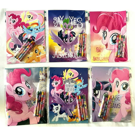 (My Little Pony Party Favors Coloring Book & Crayon Set 12 Pack ( Assorted Style))