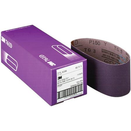 3M 761D Resin Bond Power Sanding Belt, 21 in x 3 in, P100 Grit