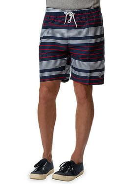 Mens Vertical Stripe 7 Swim Short Swim Trunks U.S Polo Assn
