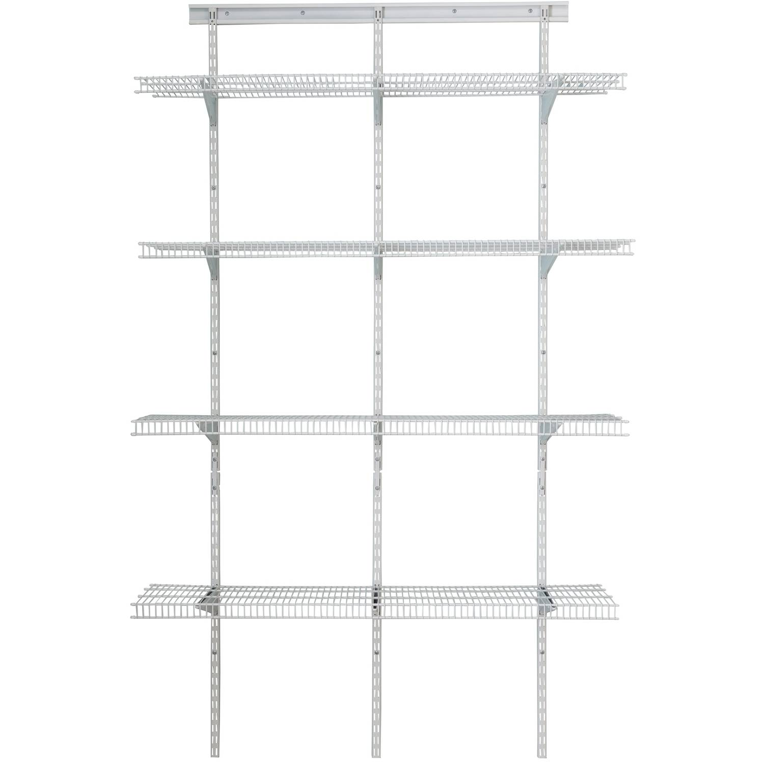 ClosetMaid Shelf Track 4u0027 Utility Org Kit, White