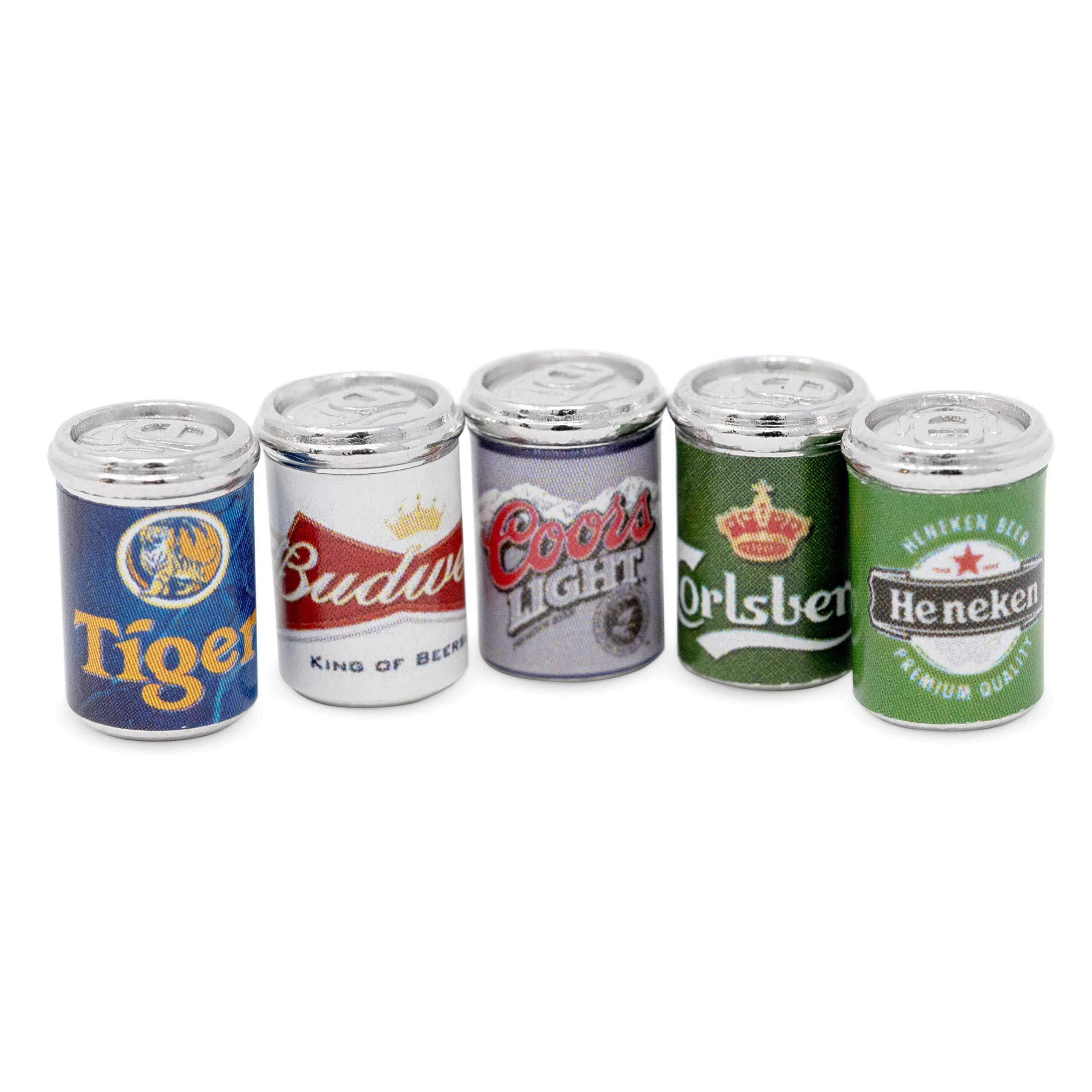 10Pcs//Set Beer Cans 1//12 Dollhouse Miniature Scene Kid Model Beer Cans Toys W8N7